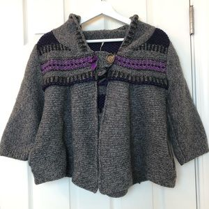 Free People Wool Knitted Cardigan with hood